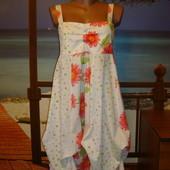 Платье\сарафан трансформер летнее хлопковое\хлопок в цветочный принт modo young р.8-10