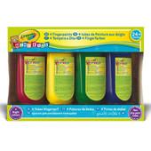Пальчиковые краски Crayola 4 цвета по 150мл