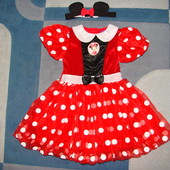 пышное нарядное платье Мини Disney 2-3 года состояние отличное