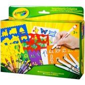Набор для творчества Crayola Алфавит с трафаретами, фломастерами и восковыми мелками