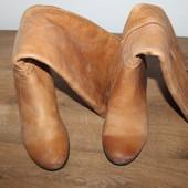 Кожаные сапоги Ecco (36 размер)