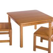 Комплект Растишка Стол и два стула натуральное дерево