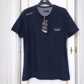 Футболка с надписями Redway бренд eur XL синий меланж оригинал