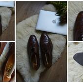 Кожаные мужские туфли-броги р-р 43