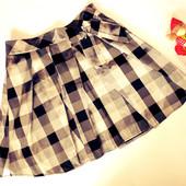Школьная юбка в клетку для школы 9-10 лет George (талия 62-76, дл. 39)