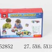 Конструктор магнитный 40 деталей, в коробке 27,5*6,5*18,0см