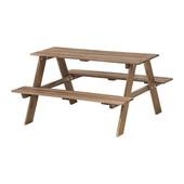 Детский стол д/пикника, серо-коричневая морилка серо-коричневый ikea икеа 702.283.25