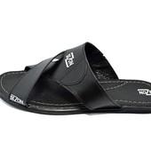 Шлепанцы мужские кожа SeZon АSD 500 черные