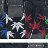 Носки мужские демисезонные спортивные х/б Tommy Hilfiger, укороченные, чёрные