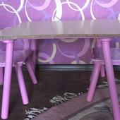 Детский стол с 2 стульчиками Disney. Принцессы диснея. Б/у.