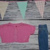 12 - 18 месяцев Нежная летняя кофточка болеро джемпер моднице