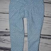 4 - 5 лет 104 - 110 см Фирменные мего крутые легкие джинсы штаны брюки на лето горох