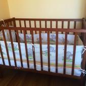 Детская кроватка с матрасом, белье и одеялком б/у
