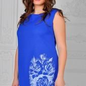 Размеры 48-54 Шикарное льняное летнее женское платье
