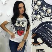 Женская футболка Сова 42-46 (2б