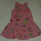 Платье с бабочками от H&М на 2-4 года