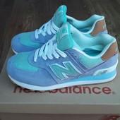 Кроссовки женские New Balance 574 Blue turquoise
