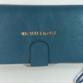 Женский кошелек- мини клатч Michael Kors синего цвета