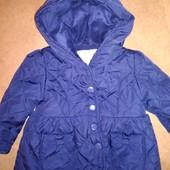 Стёганная деми куртка, ветровка на 6-12 мес