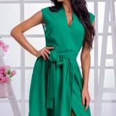 Размеры 42-48 Стильное легкое летнее женское платье