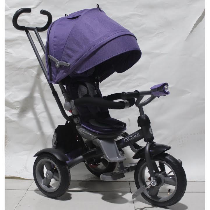 Кросер эко т 503 фара накачка велосипед сrosser трехколесный детский фото №2