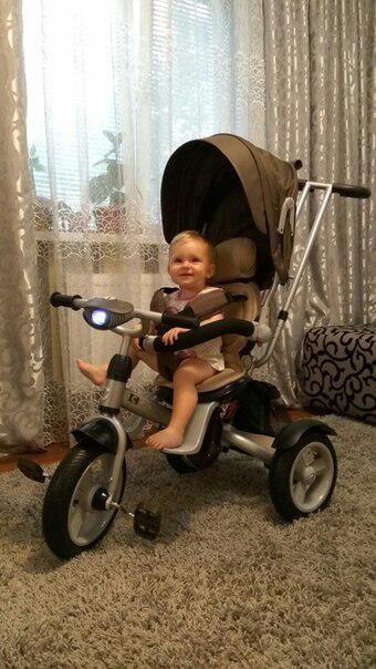 Кросер эко т 503 фара накачка велосипед сrosser трехколесный детский фото №5