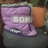 Зимние термо ботинки, снегобутсы Sorel, р. 30
