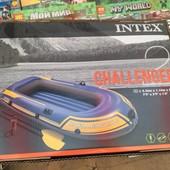 Лодка надувная Challenger 2 Set Intex 68367+насос+весла