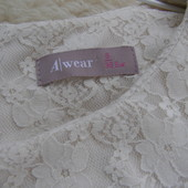 Awear кружевная блуза с баской 36-размер