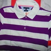 Брендовая стильная тениска поло футболка Tommy Hilfiger л-хл
