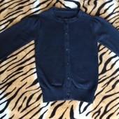 Черная школьная кофта для девочки на 1 - 2 класс