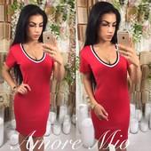 Платье черное белое красное