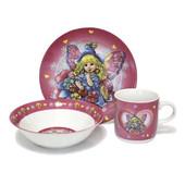 Набор посуды для девочки из керамики, 3 предмета
