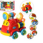 Пожарная машина 8006, музыка англ.звуки, свет, колеса погремушки, машинка