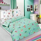 Комплект постельного белья Бусинка зеленая ,поплин