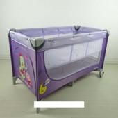 Манеж carrello Piccolo+ crl-9201 Purple со вторым дном***