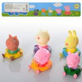 Набор фигурки для купания Свинка Пеппа и друзья, Джордж, Сюьзи, peppa, 5 резиновых фигурок