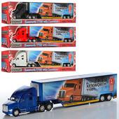 Машинка металлическая грузовик Kinsmart KT 1302 W, трейлер