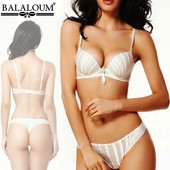 Красивый комплект нижнего белья Balaloum в белом и молочном цвете