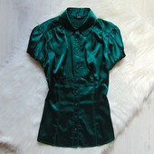 Шикарная атласная блуза для девушки. M&S. Размер 8 или s-m. Состояние: идеальное