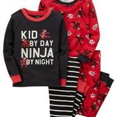 Комплекты хб пижамок Carters пижама слип комплект набор штаны кофта