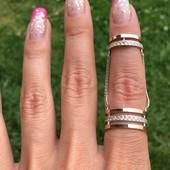 Кольцо серебряное с золотом 351
