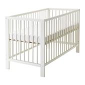 Кроватка детская, белый, 60x120 см ikea икеа 102.485.19