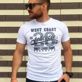 Мужская футболка West белый S-XL (4