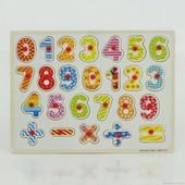 Деревянная рамка-вкладыш Цифры 0430