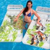"""Надувной пляжный матрас с подушкой """"Морские жители"""" Ocean Водный мир Intex 58878"""