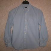 """голубая рубашка плотная """" HM """" 9-10 лет  140 см 100%котон"""