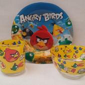 Детский набор посуды Angry Birds, 3 предмета