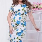 Размеры 48-54 Элегантное летнее женское платье