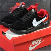 Кроссовки мужские Nike off White Mars black/red